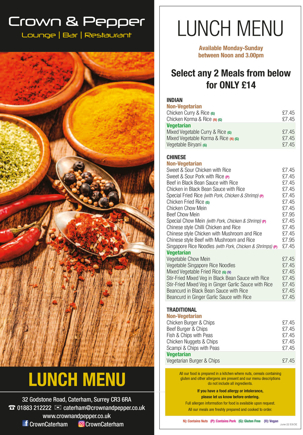 Click to Download the Lunch Menu